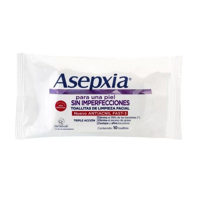 Toallitas Limpieza Facial Asepxia x 10 un