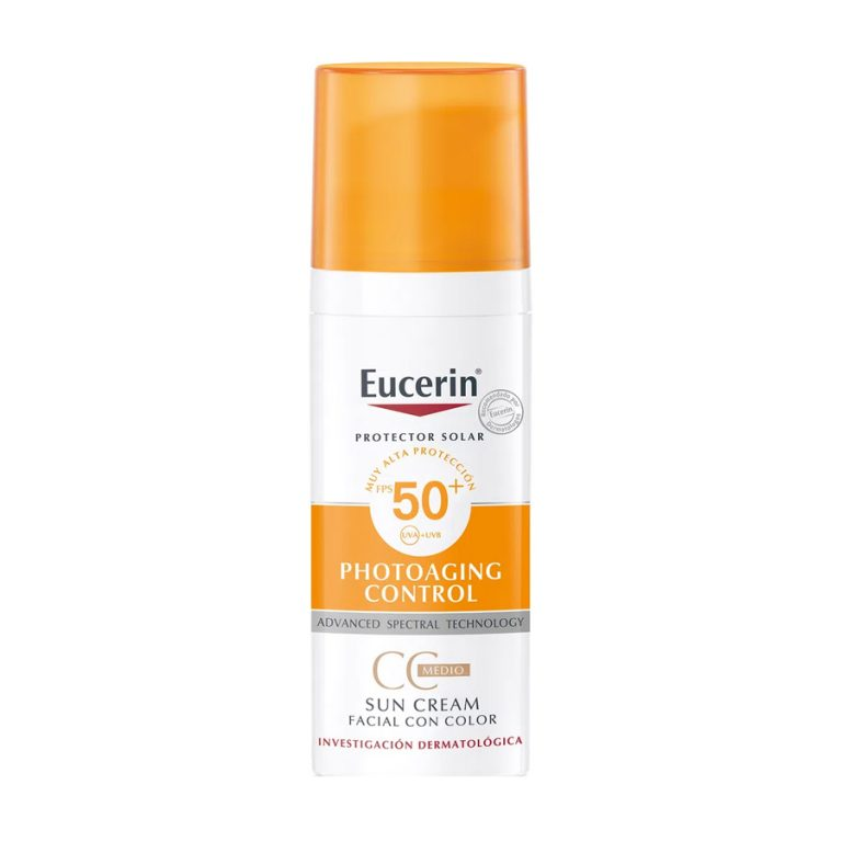 Protector Solar Facial Eucerin Photoaging Control Sun Cream con Color Fps 50 Medio x 50ml