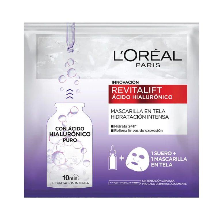 Mascarilla L'Oreal Paris Revitalift Acido Hialulronico x 1 Un