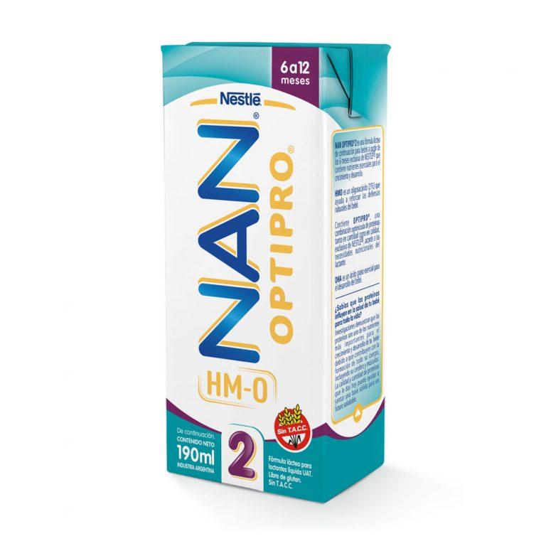 Leche Infantil Liquida Nan Optipro 2 x 24 Un x 190ml