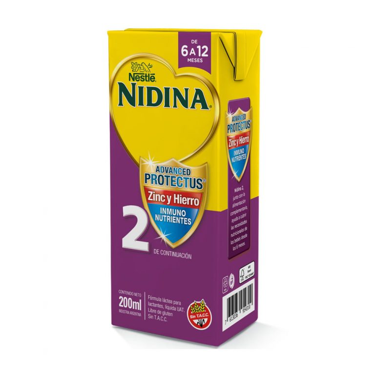 Leche Infantil Liquida Nidina 2 x 24 Un de 200ml