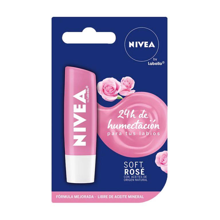 Protector labial con brillo Soft Rose x 4,8gr