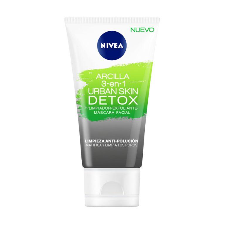 Mascarilla facial de Arcilla Nivea Urban Detox 3 en 1 x 150ml