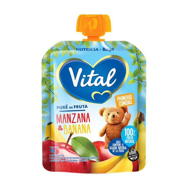 Pure De Frutas En Papilla Vital Manzana Y Banana x 90gr