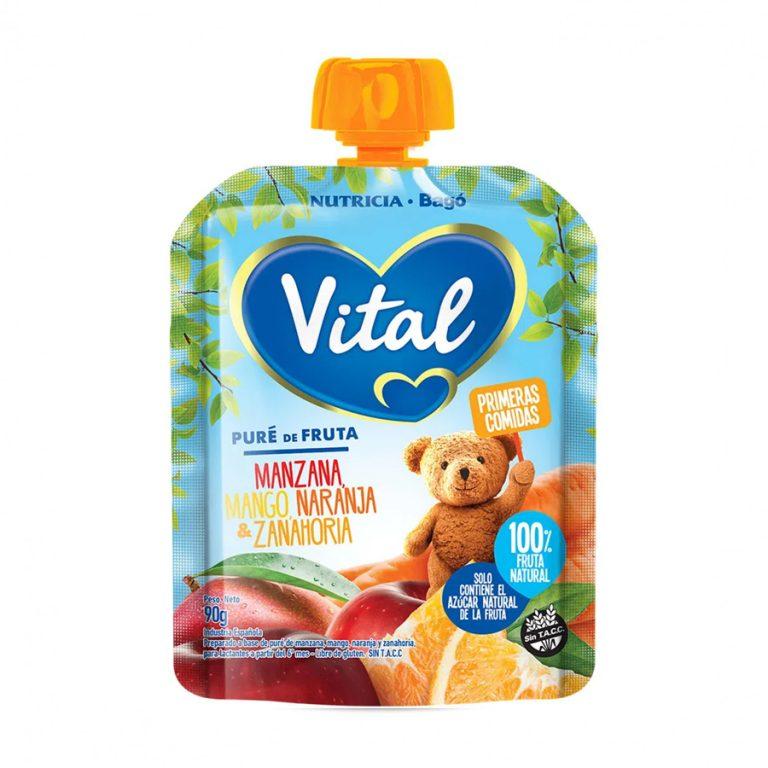 Pure De Frutas En Papilla Vital Mango Manzana Y Otros x 90gr