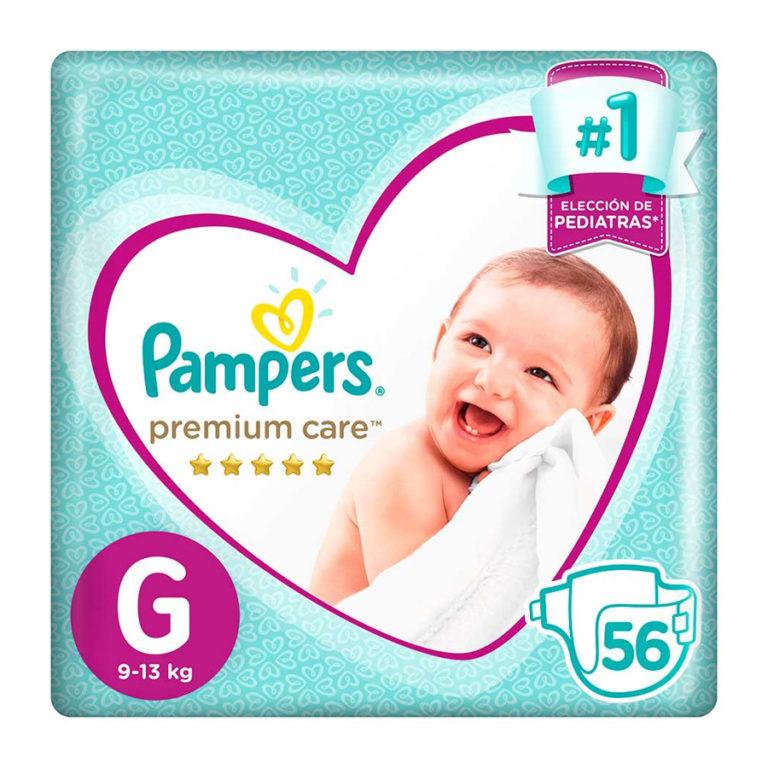 Pañales Premium Care G x 56 un