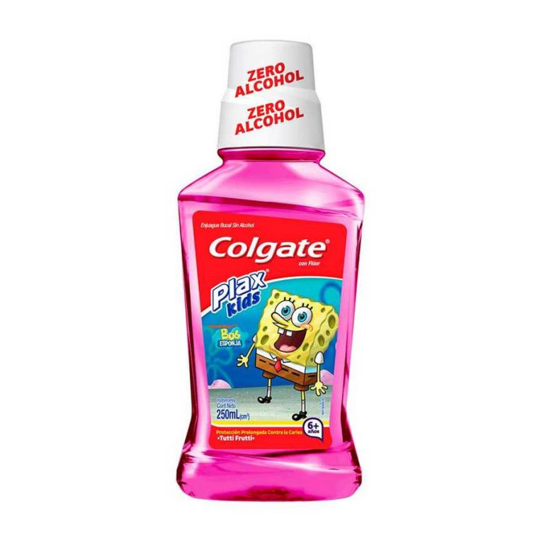 Enjuague Bucal Colgate Plax Kids Bob Esponja 250ml