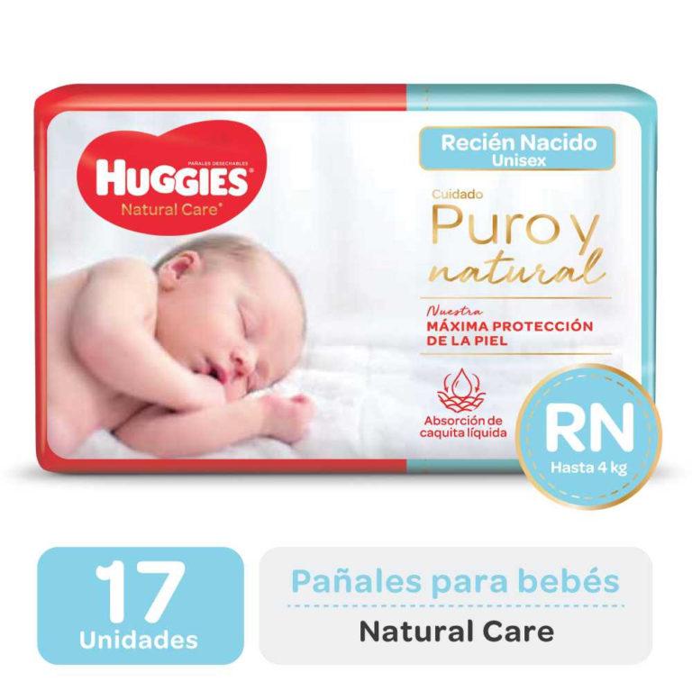 Pañales Natural Care RN (hasta 4 Kg) x 17 un
