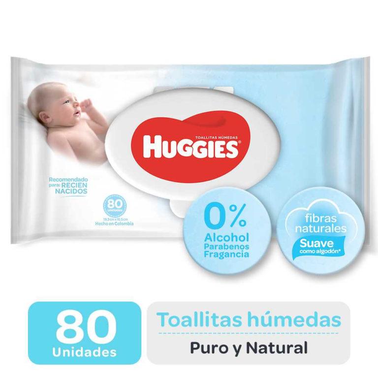 Toallas Húmedas Puro y Natural x 80 un