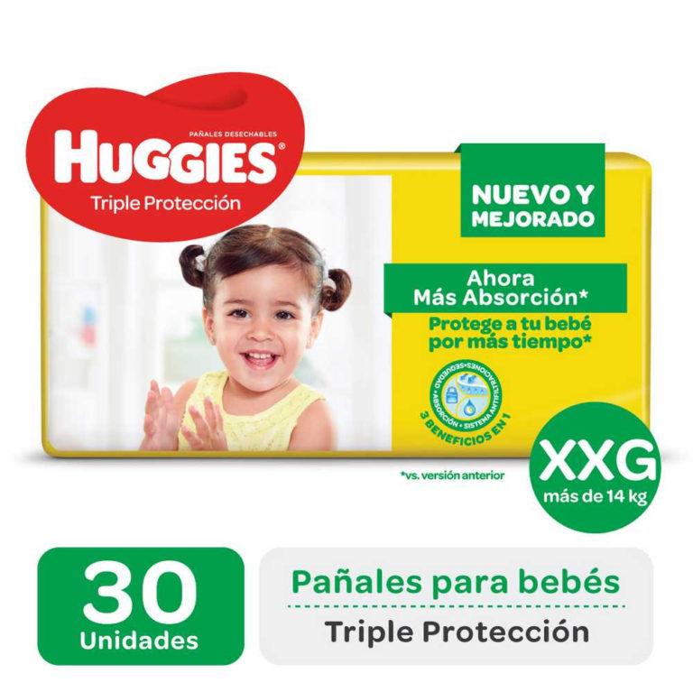 Pañales Huggies Triple Protección XXG x 30 u