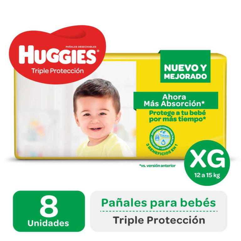 Pañales Triple Protección XG (12 a 15 kg) x 8 un