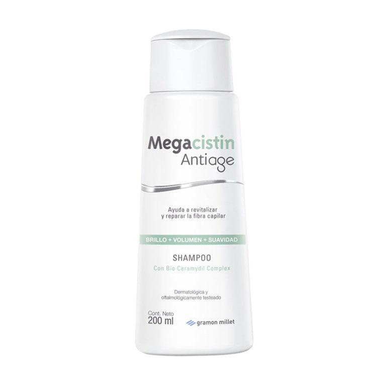 Shampoo Megacistin Antiage brillo+volumen+suavidad 200ml