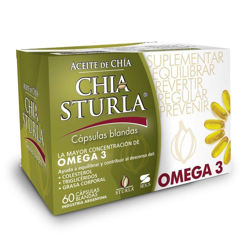 Aceite De Chia Sturla 1000mg Omega 3 X 60 Capsulas