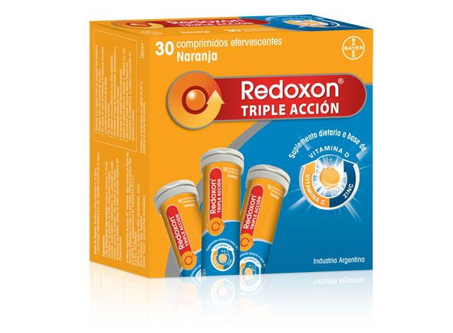 Redoxon Triple Acción 3  Tubos x 10 Comprimidos Efervescentes