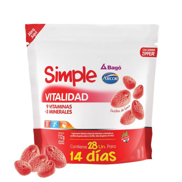 Simple Vitamina Pack Pastillas Goma 28 x Unidades