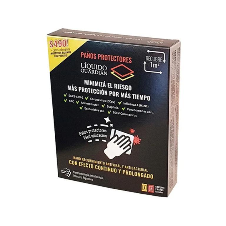 Paños Protectores Liquido Guardian Antiviral Y Antibacterial